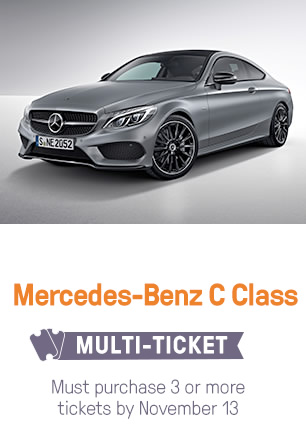 Multi-Ticket Drawing: Mercedes-Benz C Class; must purchase 3 or more tickets by November 15