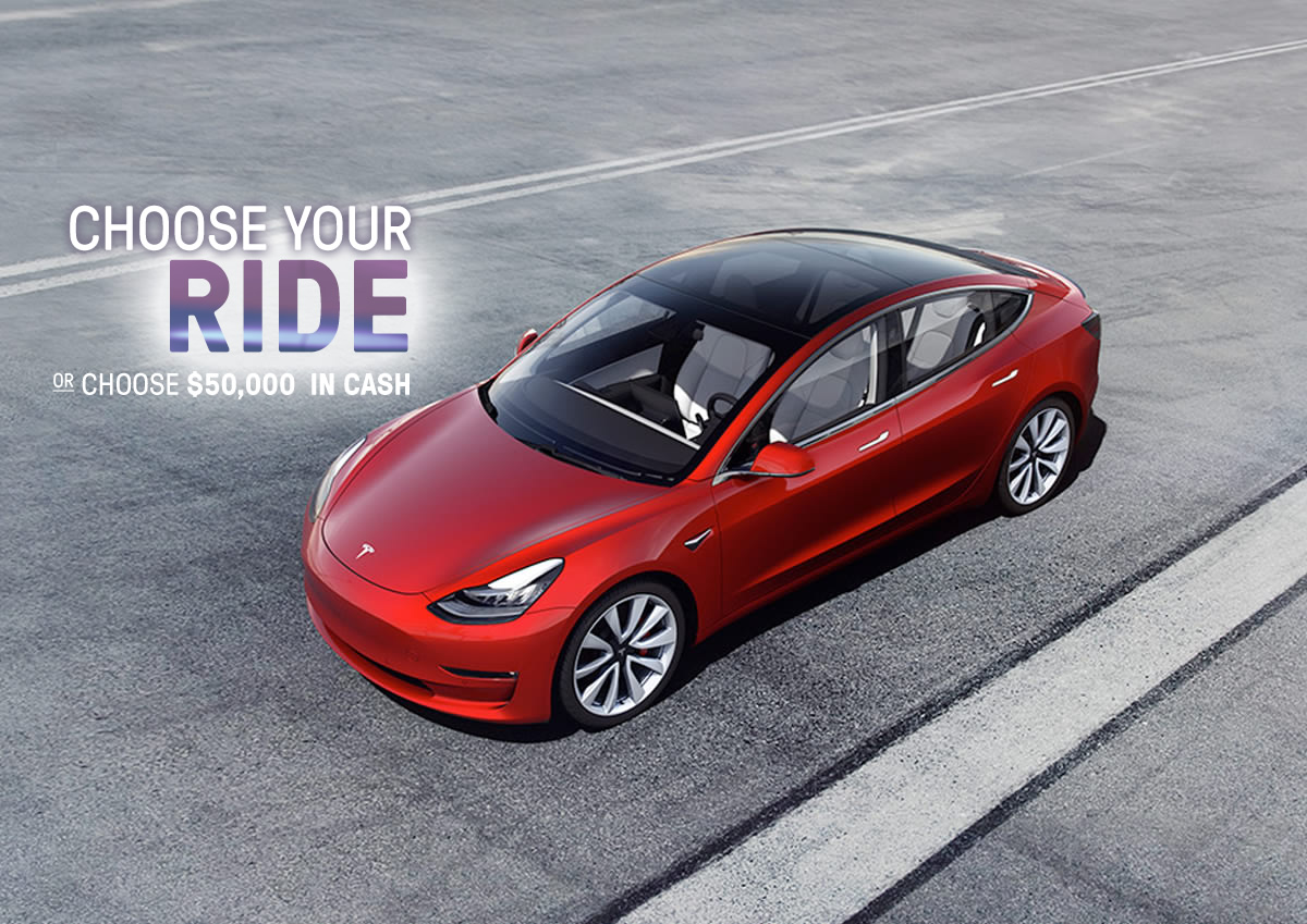 Win a Tesla Model S, BMW 5 Series or Jaguar F-Type